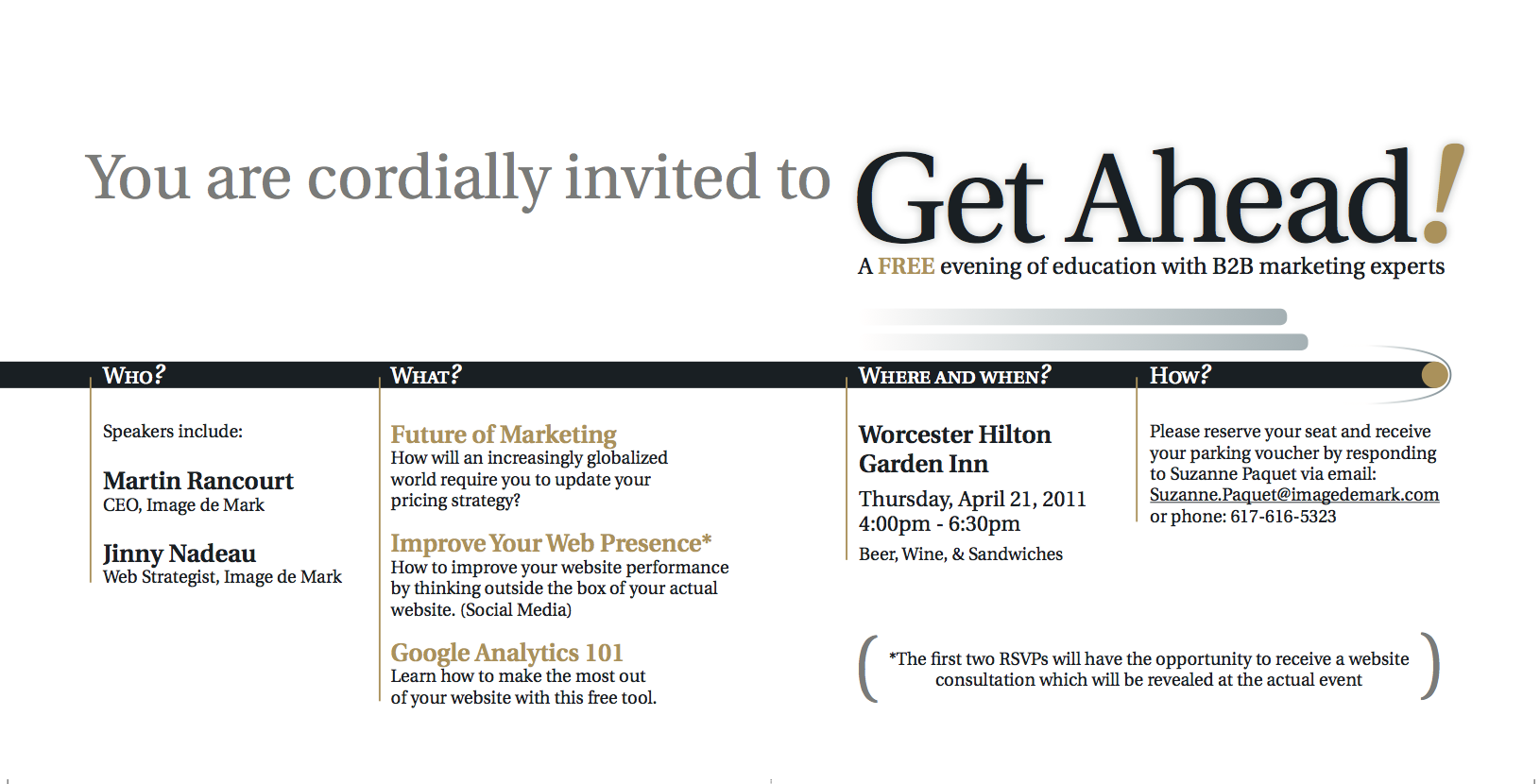 Get Ahead Event: Direct Mailer